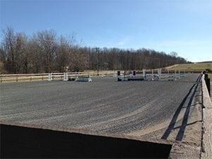 equestrian arena rubber mulch